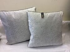 pkt 2 designer giotto  White/silver designer piped cushions romo marlow velvet