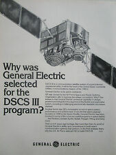 10/1977 PUB GENERAL ELECTRIC DSCS III COMMUNICATION SATELLITE ESPACE ORIGINAL AD