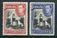 Bermuda GVI 1938 Series, Both 3d Values MM.