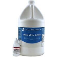 White Gelcoat With Wax and Hardener Kit - Gallon, Fiberglass Boat Polyester