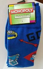 Mens Hasbro Monopoly Socks (Blue) Size 6-12 (New With Tags)