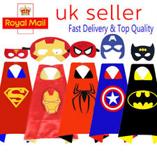 Kids Boy Superhero Captain Cape Mask Dress UP Christmas Theme Party Fancy Capes