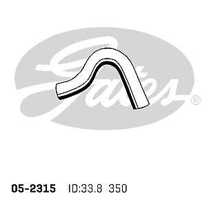 Gates Radiator Hose 05-2315 fits Hyundai Terracan 3.5 i V6 4x4 (HP)