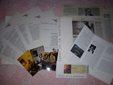 "FRANCO BATTIATO ""L'IMBOSCATA TOUR"" PRESS KIT +PICS+PRESS CUTS+INVITATION+PROGRAM"