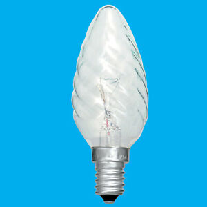 10x 60W Clear Twisted Candle SES E14 Small Edison Screw Light Bulb Lamp