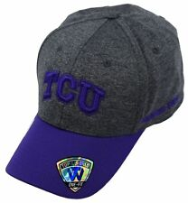 0d2746bf71ad0 NCAA TCU Horned Frogs Top of the World 1Fit Adult Cap Hat Grey