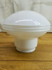 Vintage Antique Atomic Schoolhouse Milk Glass UFO Globe Light Shade