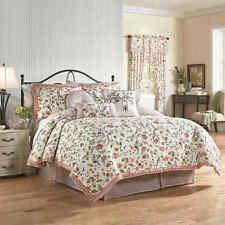 Waverly Retweet Berry 4Pc King Quilt Set New Birds Floral New Shams Bedskirt