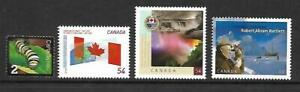4 x 2009 Canadian  MUH Sht stamps  (Various) ($1.64 Bargain)