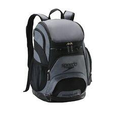 Speedo Printed 35L Teamster Backpack - Heather Grey/Black