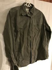 St. John's Bay Chino Collection Mens Button Up Size Medium Heavy Duty 100% Cotto