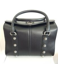 AJE HUTTON Top Handle Bag/ Black Leather/Vintage Silver NWT originally A$595