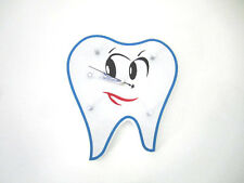 New Dental Teeth Shape Wall Clock For Dental Office Decoration White And Blue