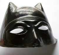 Batman Mask Vintage Halloween Costume Cowl New Old Stock Soft Plastic SuperHero