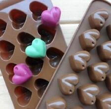 Cake Cookie Chocolate Jelly Muffin Baking Silicone Bake-ware Moulds Heart shape