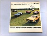 1973 AMC 32-page Car Sales Brochure Catalog - Matador Hornet Gremlin AMX Javelin