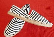 Mod 8 Girl's Navy/White Striped Canvas Espadrilles Shoes Sandals UK13.5/Eu32