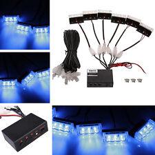18 LED Blue Emergency Vehicle Car Strobe Flash Lights Grill Lights DC 12V 5W