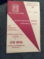 Northampton Town v Leeds United 1965/66 (December Postponed) Programme