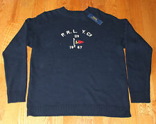 $225 New POLO Ralph Lauren Sweater Navy Men's XL X-Large PRLYC Yacht Co 1967