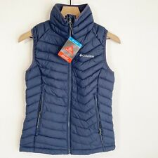 Columbia Blue Powder Lite Omni-Heat Polyester Vest XS WK0052 Women's New