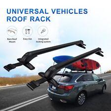 Pair Universal Roof Rack Cross Bars Luggage Carrier Window Door Frame Clamp