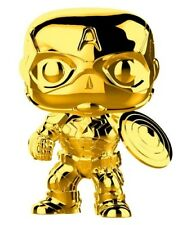 Marvel Studios 10th Anniversary Captain America Gold Chrome Funko Pop Vinyl