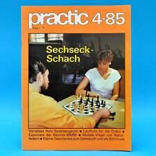 DDR practic 4/1985 Sechseckschach Segeljolle Spielzeugauto Hausklub Lauflicht J
