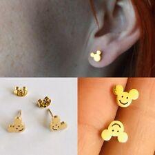 Micky Mouse Disney 18k Real Gold PLT Nice Jewelery Earring STUD - UK USA WOMEN