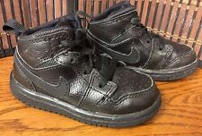 Nike infant boys athletic shoes toddler size 5C black high top laces F14