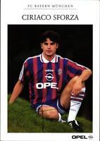 AK 4603 Ciriaco Sforza, FC Bayern München alt mit Scan der Rückseite