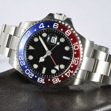 New Parnis 40mm Sapphire Glass Blue&Red Bezel Men's GMT Automatic Luminous Watch
