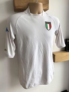 ITALY 2000-02 Kappa White Away Football Shirt - Medium - VGC - Genuine Vintage