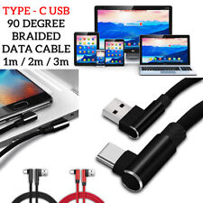90 Degree BRAIDED USB TYPE-C Charging/Data Sync Transfer Cable For SONY XPERIA