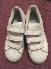 Adidas Superstar White Trainers Size 2.5 In Good Condition