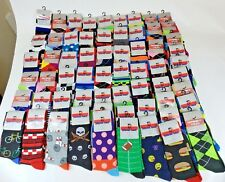 50 Pairs Wholesale Bulk Lot Mens  Assorted Designs Novelty Dress Crew Socks