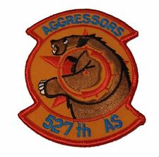 USAF AIR FORCE 527TH AGGRESSOR SQUADRON PATCH OPFOR TACTICAL FIGTHTER TRAINING