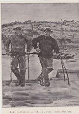 1886  --  L ETE A JERSEY  DEUX PECHEURS   PAR RAFFAELLI  3C447