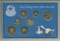 New Born Baby Boy Coin Gift Set 2004 (Parent Mum & Dad Birth Keepsake Present)