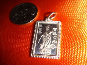 Sterling Silver Guanyin Pendant, 925 Fineness, New