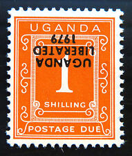 UGANDA 1979 1/- Postage Due Liberation with INV/OPT U/M D6 SALE PRICE BN 996