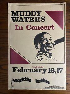 MUDDY WATERS concert poster 1979 Vegetable Buddies So Bend IN Original Vintage