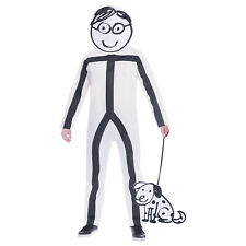Childs Stick Boy Fancy Dress Costume Funny Outfit Boys Kids Book Day Week