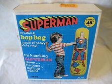 1978 vintage Miner toy SUPERMAN inflatable BOP BAG punching bag MIB unused RARE!