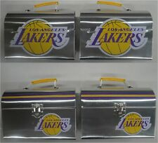 Two (2) 2019 Los Angeles Lakers SGA Lunch Box / Lunch Pail 4/4/19 VS GS Warriors