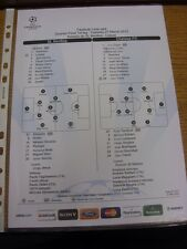 27/03/2012 Colour Teamsheet: Benfica v Chelsea [Champions league] (Tactical Line