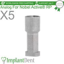 5 Implant Analog For Nobel Biocare Active Hex Rp Dental Abutment