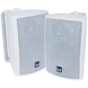 Dual 3-Way Indoor/Outdoor Speakers - Pair- White - LU47PW