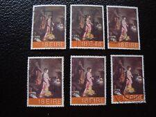 IRLANDE - timbre yvert et tellier n° 458 x6 obl (A32) stamp ireland (Z)