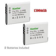 2x Kastar Battery for Olympus LI-90B Tough TG-1 iHS TG-2 iHS TG-3 XZ-2 iHS